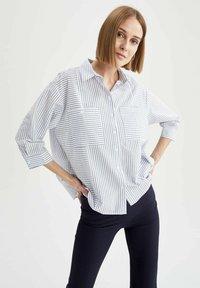 DeFacto - OVERSIZED  - Button-down blouse - blue - 3