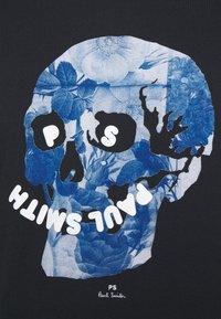 PS Paul Smith - SLIM FIT FLORAL SKULL LOGO - Print T-shirt - dark blue - 4