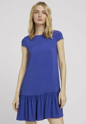 Korte jurk - anemone blue