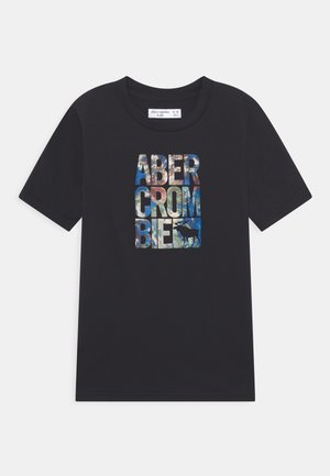 PUFF LOGO - Print T-shirt - black