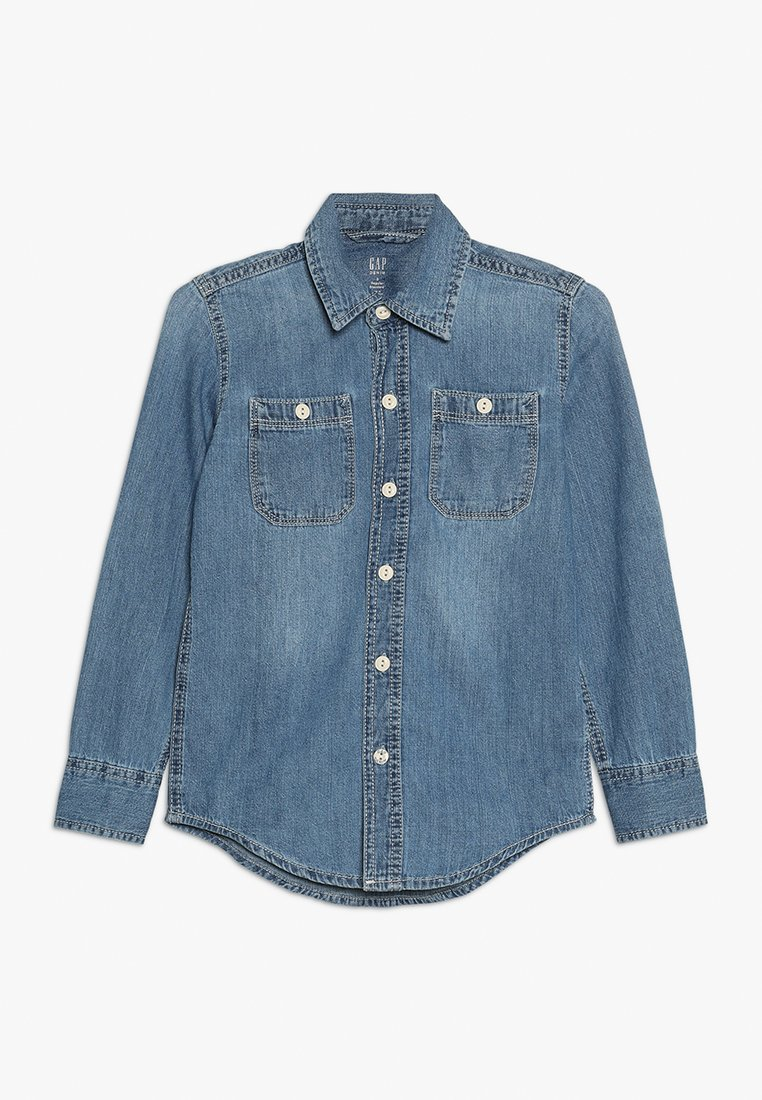 GAP - BOYS SHRT - Skjorter - dark blue denim