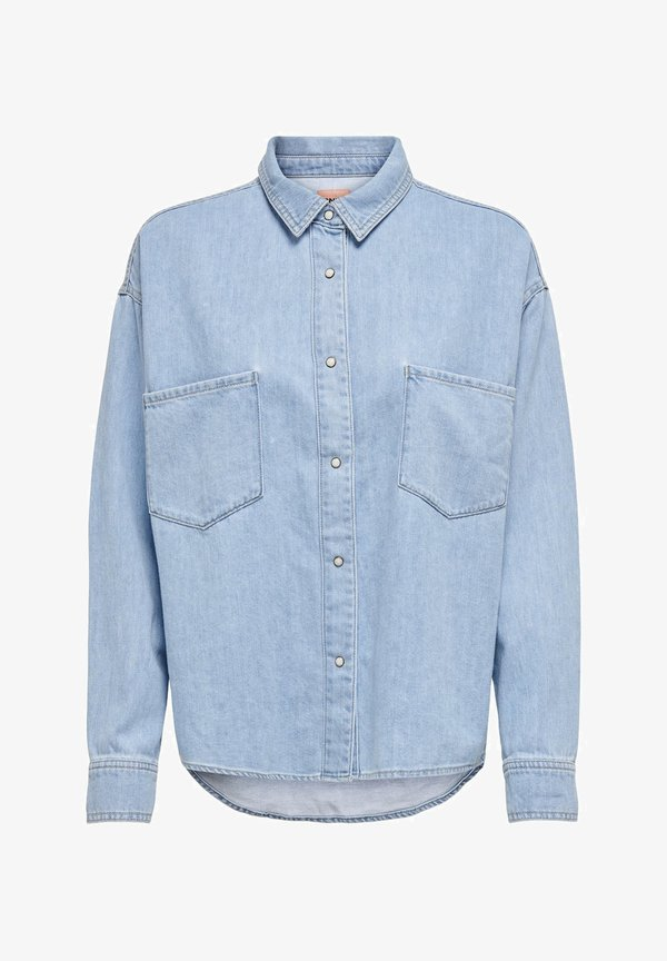 ONLY Koszula - light blue denim/jasnoniebieski MTVZ