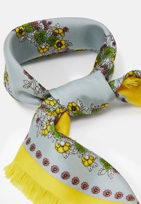 Tory Burch - FLORAL NECKERCHIEF WITH FRINGE - Foulard - pale blue - 2