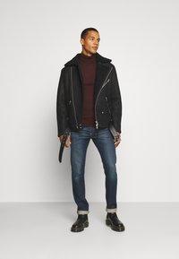 AllSaints - TERRO BIKER - Leather jacket - black - 1