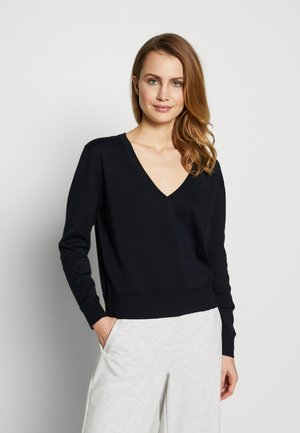 LIGHT VNECK - Jumper - evening blue