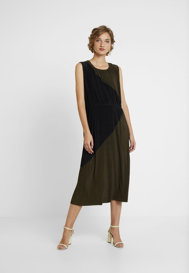 MARNIE - Cocktail dress / Party dress - dark olive/black