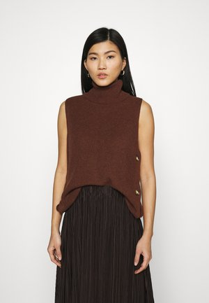 ROLLI VEST - Jumper - brown