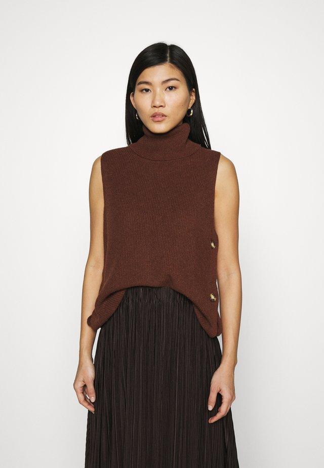 ROLLI VEST - Sweter - brown