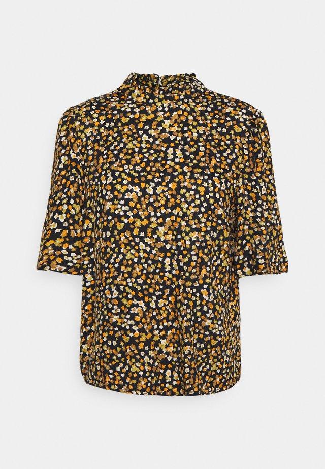 VIVOLAS 2/4 SLEEVE - Button-down blouse - black