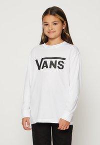 Vans - BY VANS CLASSIC LS BOYS - Longsleeve - white/black - 0