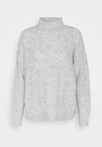 PCBECKY HIGH NECK CABLE  - Jumper - light grey melange