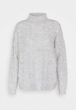 PCBECKY TURTLE NECK - Strikkegenser - light grey melange