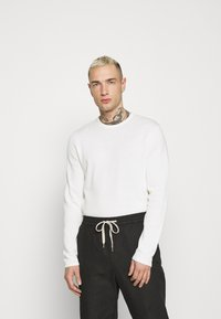 Only & Sons - ONSGARSON LIFE WASH CREW - Jumper - star white - 0