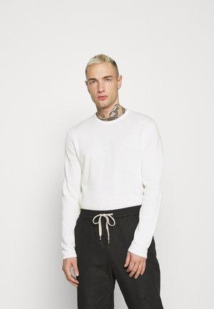 ONSGARSON LIFE WASH CREW - Stickad tröja - star white