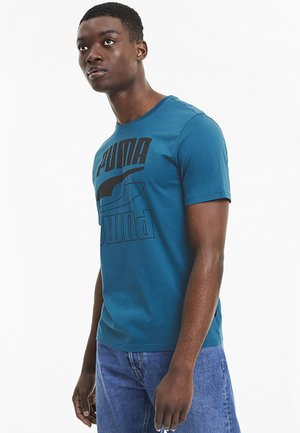 Print T-shirt - digi-blue