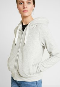 Abercrombie & Fitch - LINED LOGO FULL ZIP - Zip-up hoodie - grey - 4