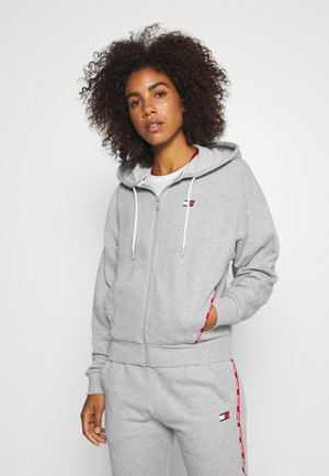 HOODY PIPING - Hoodie met rits - grey heather