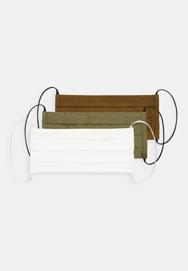 3 PACK - Kasvomaski - dark green/white/khaki