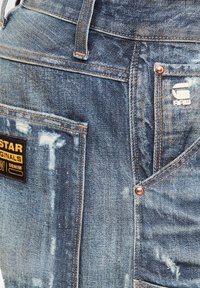 G-Star - 5620 3D ORIGINAL RELAXED TAPERED - Jeans baggy - antic faded tarnish blue destroyed - 3