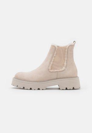 POWER - Platform ankle boots - desert