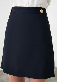 Trendyol - A-line skirt - navy blue - 0