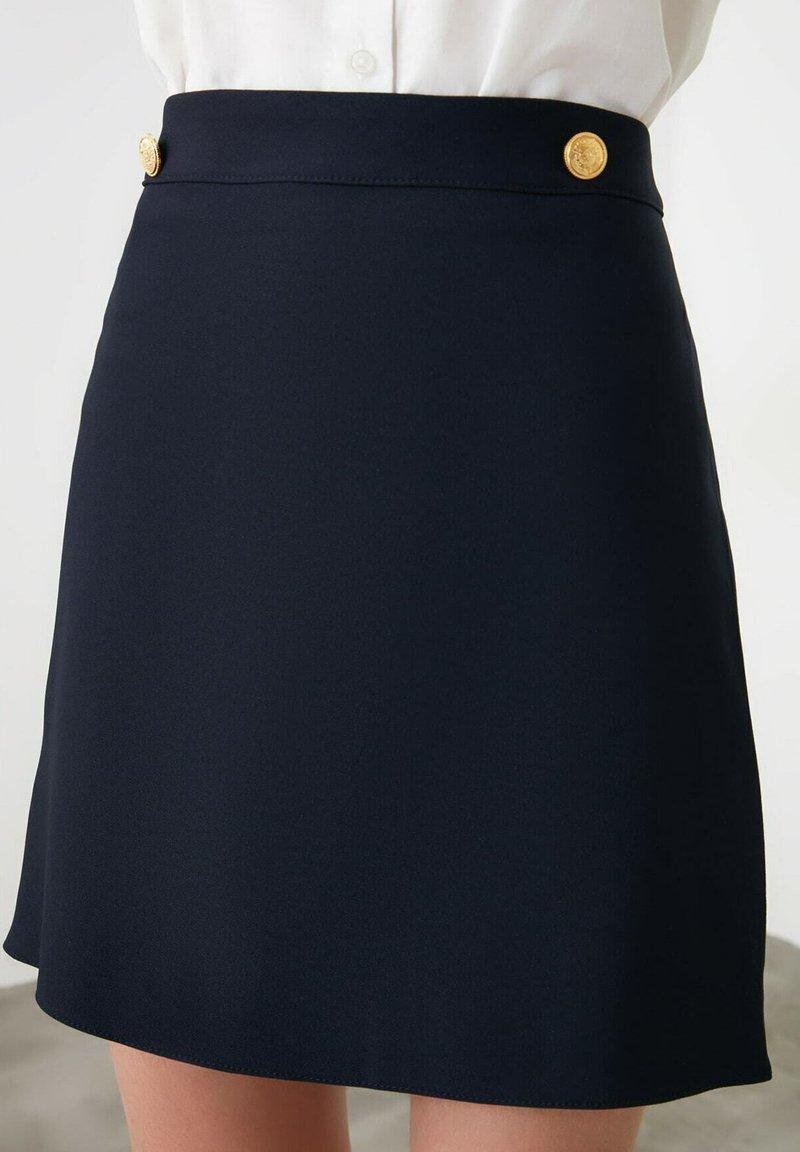 Trendyol - A-line skirt - navy blue