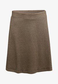 Esprit - FLARED  - A-line skirt - camel - 6