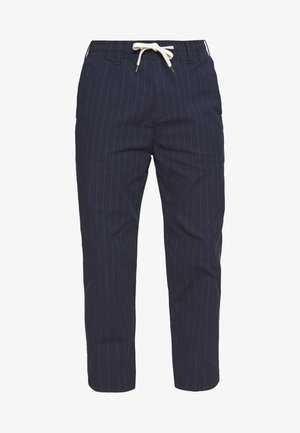 PULLON CROP TAPER PLAID - Pantaloni - navy