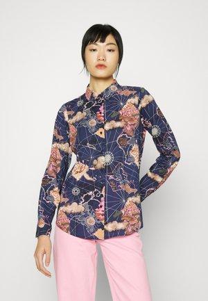 REGULAR FIT - Button-down blouse - dark blue