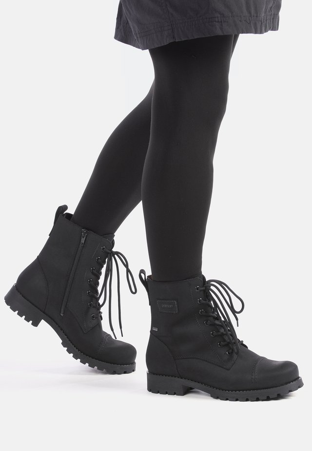 KARA - LACE-UP ANKLE BOOTS - Veterboots - black