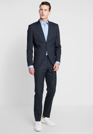 SLHSLIM LEEDLOGAN CHECK SUIT - Completo - medium green melange