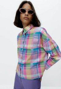 Uterqüe - Button-down blouse - pink - 4