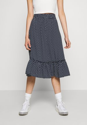 JDYSTARR LIFE FRILL MIDI SKIRT - A-line skirt - sky captain/cloud dancer
