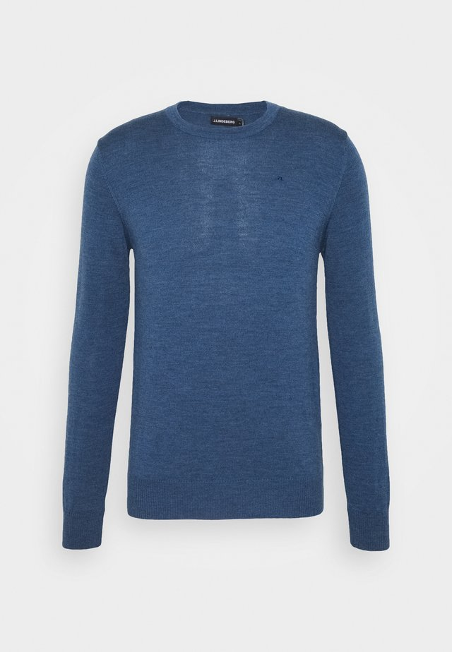 LYLE CREW NECK - Jumper - egyptian blue melange