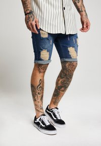 SIKSILK - DISTRESSED - Jeansshort - midstone - 4