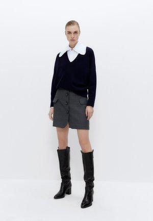 MIT BUBIKRAGEN - Button-down blouse - white