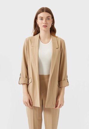 MIT STREIFEN - Krátký kabát - beige