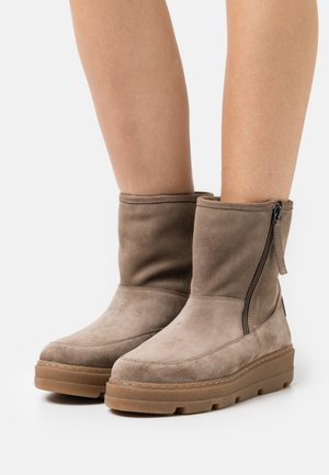 FRACO - Platform ankle boots - taupe