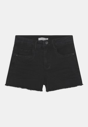 NKFRANDI MOM - Szorty jeansowe - black denim