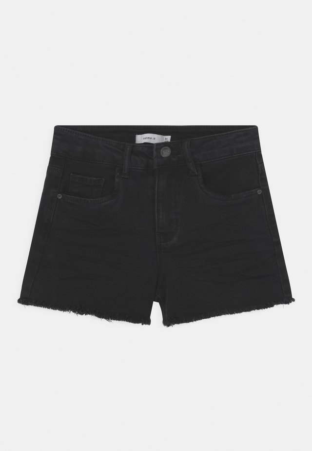 NKFRANDI MOM - Shorts di jeans - black denim
