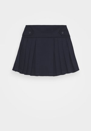PLEAT BOTTOMS SKIRT - A-line skirt - navy
