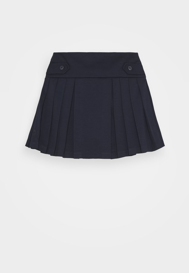 PLEAT BOTTOMS SKIRT - Jupe trapèze - navy