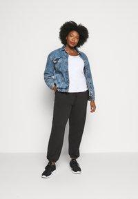 Missguided Plus - PLUS SIZE JOGGERS - Teplákové kalhoty - black - 1