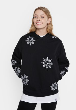 SWISS EMBOIDERY - Sweatshirt - black