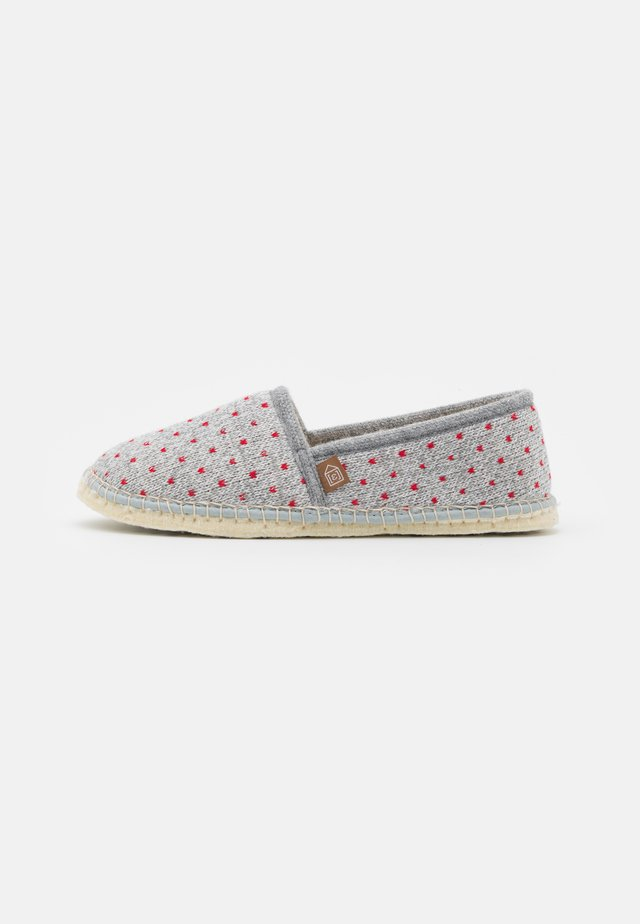 PANTOUFLE CLASSIC COUER - Chaussons - gris/rouge