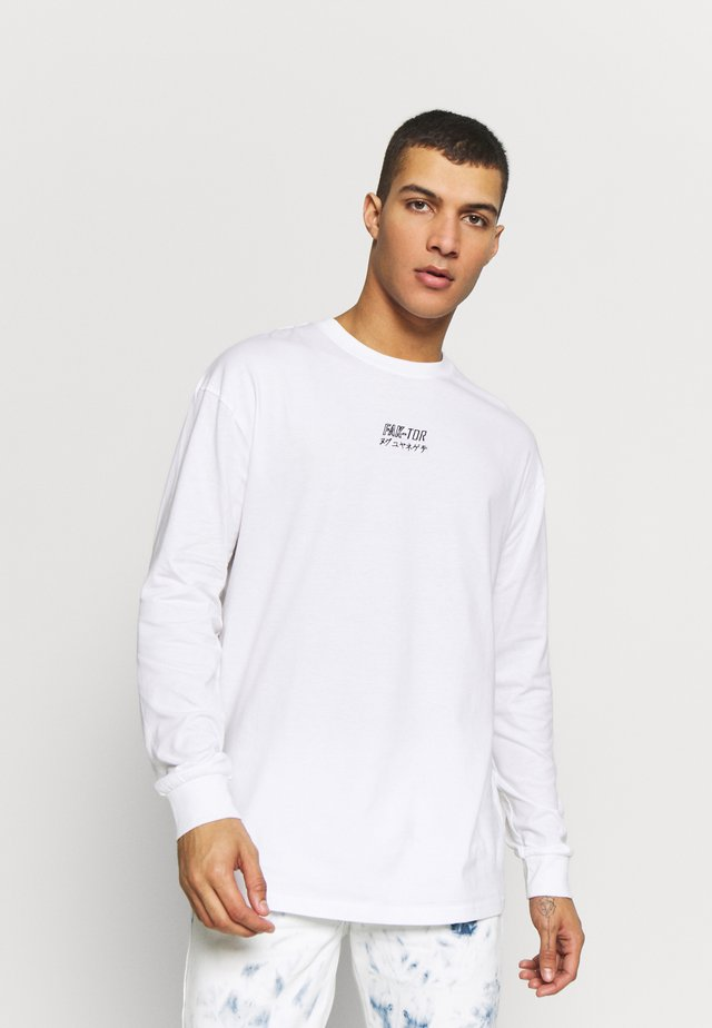 DESTROY TEE - Long sleeved top - white