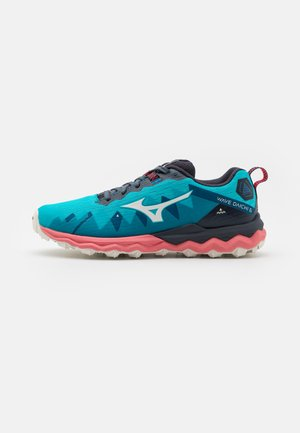 WAVE DAICHI 6 - Trail running shoes - scuba blue/snow white/tea rose