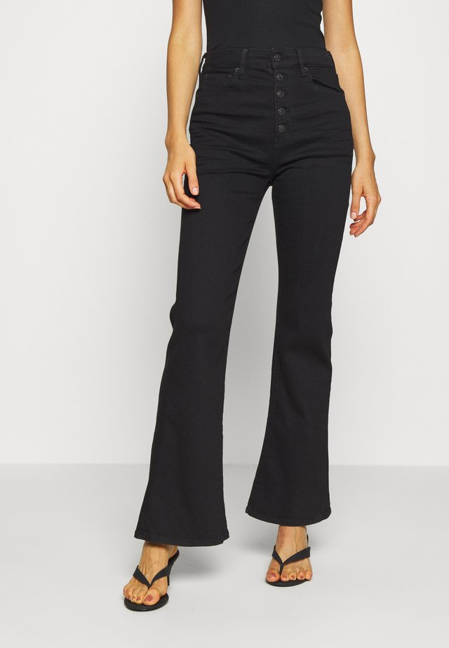 HIGHEST RISE  - Jean flare - bold black