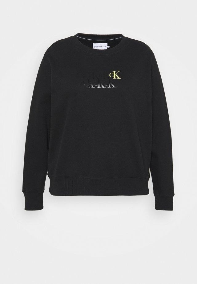 MONOGRAM CREW NECK - Sweatshirts - black