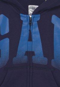 GAP - ARCH HOOD - Sweater met rits - navy uniform - 2